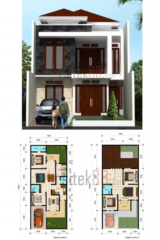 desain rumah 704 diatas lahan 7 x 16 m2 kendali hama